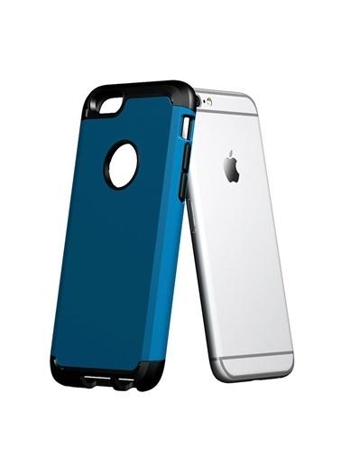 Microsonic Slim Fit Dual Layer Armor iPhone  6 (4.7) Kılıf Mavi Renkli